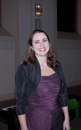 Anke Haas nach dem Konzert